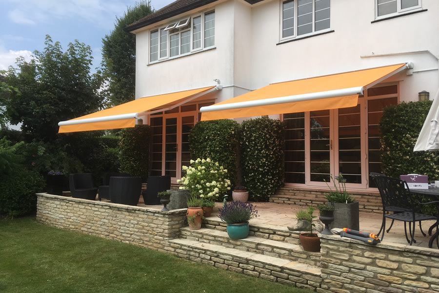 Two Patio Awnings