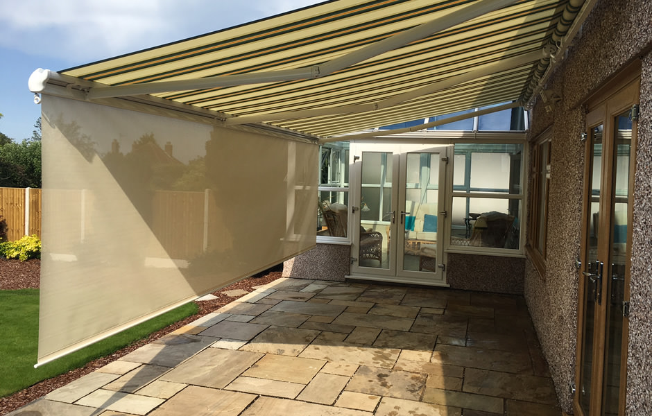 Awning with Integral Lights