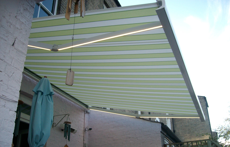 Patio Awning With Integral Lights