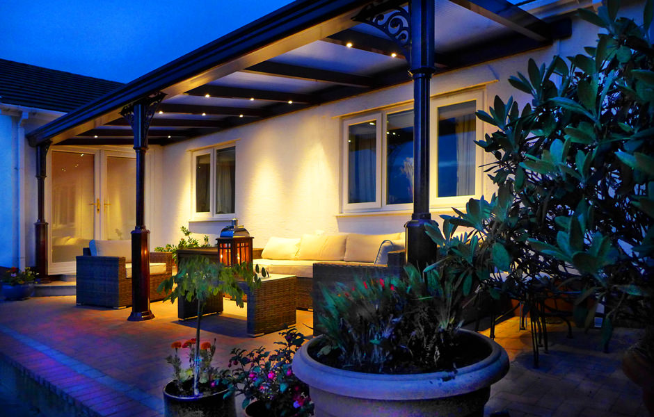 Classic Veranda at night