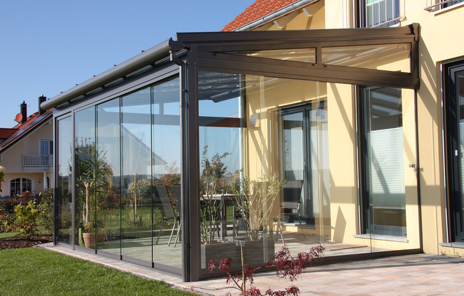 Veranda with Sliding Glass Walls