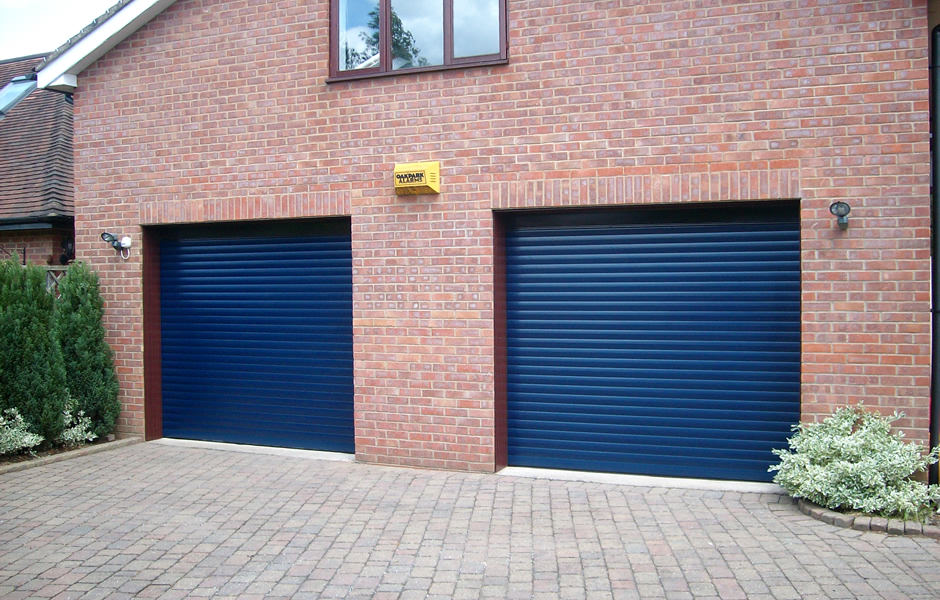 Two Single Roller Garage Doors