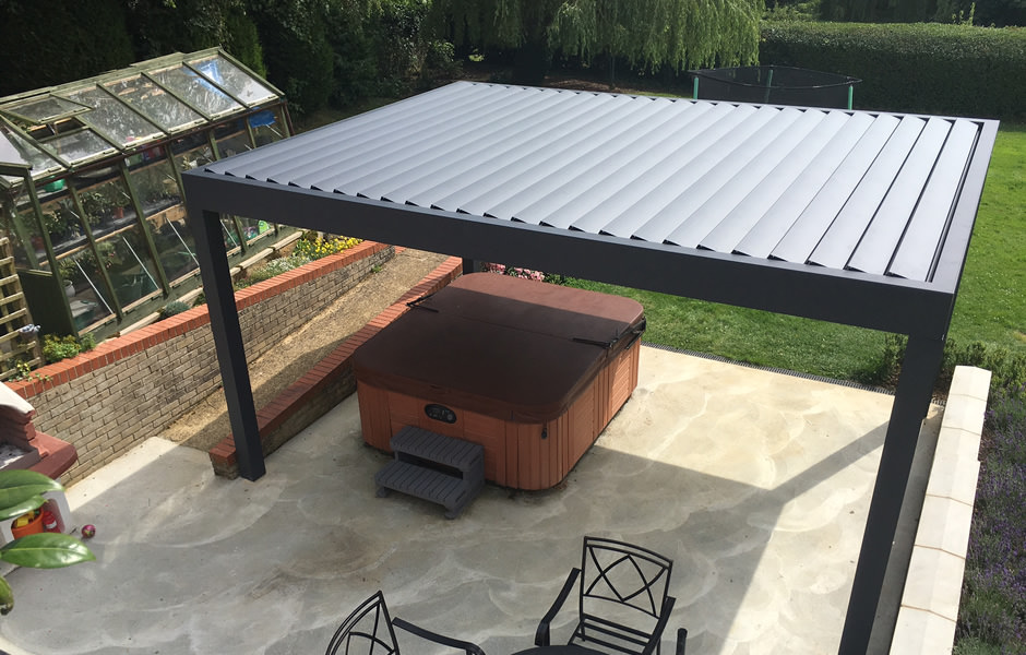 Terrace Roof With Louvres