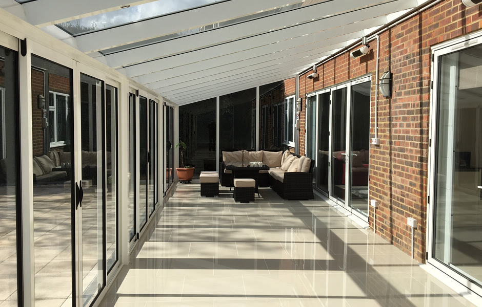 Contemporary Glass Verandas With Walls