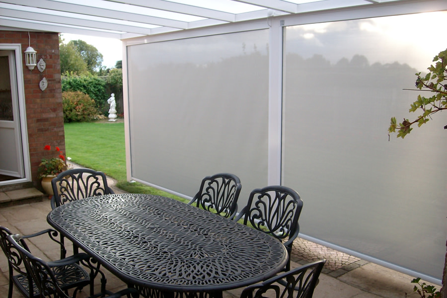 External Sun Screens on a Veranda