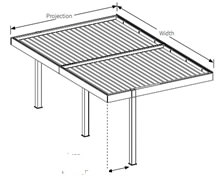 Louvre Roof With Inset Posts